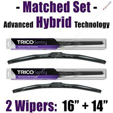 """Matched Set of 2 Hybrid Wipers 16""""+14"""" Trico Sentry Wiper Blades - 32-160 32-140"""