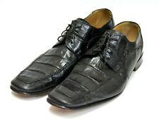 Crocodile Shoe Leather David Eden Black KERR Derby Lace Size 11 Dress