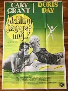 Original Swedish Poster 24x36: That Touch of Mink (1962) Cary Grant, Doris Day