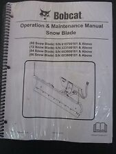 "Bobcat Skid Steer Snow Blade Plow Operation & Maintenance Manual 60 72 84 96"" 08"