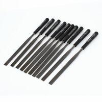 4mm x 160mm Plastic Handle Flat Rasp File Woodworking Hand Tool 10 Pcs