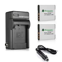 2x NP-BN1 Battery + Charger For Sony Cyber-shot DSC-W310 W320 W330 W530 W350