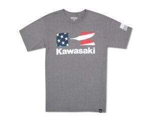 Kawasaki Heritage Flying K Star and Stripes T-Shirt K002-2601-GY