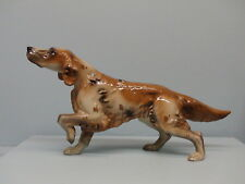 HTF Hagen Renaker Squire English Setter Repaired Foot Light Version Red Tan