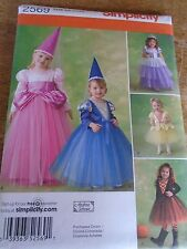 "2569  PATRON ""SIMPLICITY COSTUME 5 ROBES PRINCESSES & FEES   9 MOIS A 3 ANS"