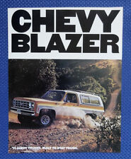 1977 Chevrolet BLAZER Truck Sales Catalog Brochure - MINT New Old Stock
