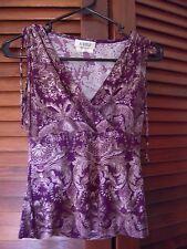 A Byer Purple & Tan Top Size S