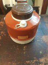 Thermos Picnic Jug Bottle 2 Gallon Camping Fishing Hunting Cooler Brown Vintage