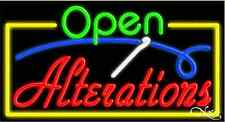 "New ""Open Alterations"" 37x20x3 Border Real Neon Sign W/Custom Options 15444"