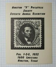 Hps Convention 1952 Abraham Lincoln Us Postage Philatelic Souvenir Ad Label