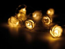 GUIRLANDE LUMINEUSE NOEL A 10 LED 90cm EN FORME DE FLEURS ROSES