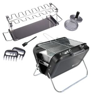 Valiant Portable Folding Picnic and Camping BBQ Grill and Accessory Set
