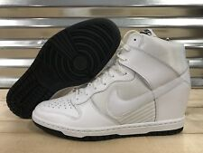 WMNS Nike Dunk Sky Wedge Heel Shoes White White-Out SZ 11 ( 644877-101 )