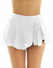 Ladies Mini Skirts Womens High Waist Chiffon Plain Skater Skirt Gymnastics Skirt