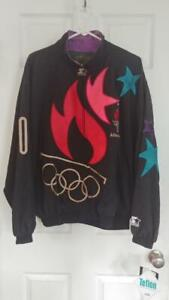 1996 NOS NWT Authentic 100 Atlanta Olympics Collection Starter Jacket Size M
