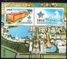 CHILE 1992 STAMP SS # 56 MNH EXPO SEVILLA 92' FAIR