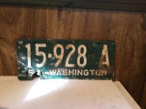 1954 Washington Project License Plate