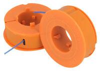 Pack Of 2 Spool & Nylon Line Fits BOSCH ART 23 26 30 Combitrim Easytrim Pro-Tap