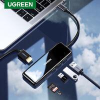 Ugreen Type C USB 3.0 Hub Adapter Card Reader HDMI 4K 60Hz For Macbook iPad Pro