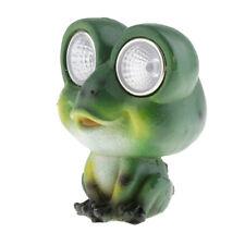 Solar Powered Garden Lights Frog Shaped Statue Lantern LED Path Light Lamp