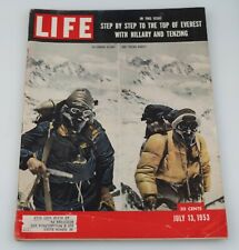 Life Magazine Vintage July 17, 1953 - Top of Everest on Cover - Good Condition