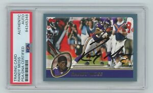 RANDY MOSS Vikings Signed 2003 Topps Football Card #253 - PSA Authenticated Auto