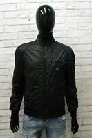 RefriGiwear Giacca da Uomo Taglia S Cappotto Giubbotto Nero Jacket Man Nylon