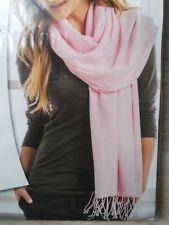 Pashmina Schal 180x70 Hellrosa Rosé XXL Tuch Schultertuch Stola Halstuch Hijab