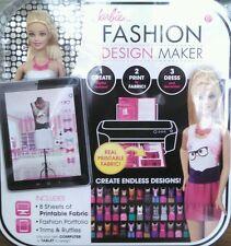 Barbie Fashion Design Maker Doll Create Computerize Printable Fabric Skill Build
