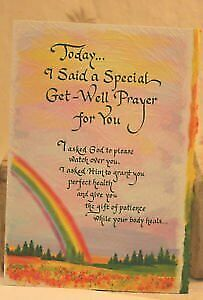 Blue Mountain Arts Get Well - Today... I Said A Special Get-Well Prayer For You