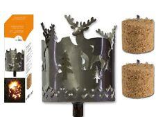 Garden Torch Metal Rust Lantern Brenndose Fire Bowl Wild, Stag