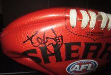 Geelong - Tom Hawkins signed Red Sherrin mini football