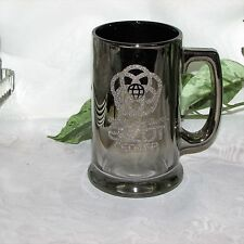 WALT DISNEY WORLD EPCOT CENTER BEER MUG STEIN SILVER GLASS SOUVENIR THEME PARK