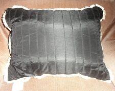Martha Stewart Black White Pin Tuck Swirl Rectangle Pillow Throw Cushion Decor