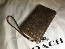 CoachF23448 PHONE WALLET WITH STAR GLITTER PRINT GOLD