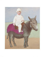 Pablo Picasso Paulo on a Donkey Children Animal Portrait Print Poster 11x14