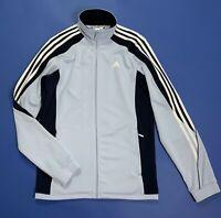 Adidas felpa tuta vintage usato S uomo donna azzurro giacca jacket sport T4892
