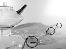 Glas Chrom TEESERVICE ° neues Wohnen ° funktionalistisches 50/60er Jahre Design