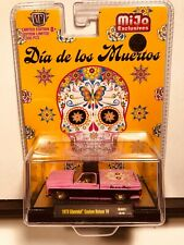 1/64 M2 DIA DE LOS MUERTOS 73 CHEVROLET CUSTOM DELUXE 10 PINK & BLACK MIJO CHASE