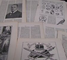 10 sheets Vintage Encyclopedia pages. Decoupage, Art Projects, Crafting,Shabby