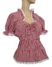 Karierte Kurzarm Damenblusen, - tops & -shirts für die Freizeit-Blusen im