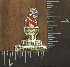 Tm 1992 Acog Olympics 100 Atlanta 1996 Bell South Gold Toned Pin-Back Brooch!