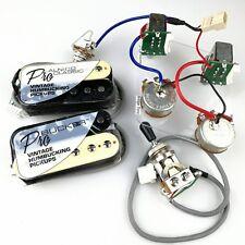 ProBucker Alnico Classic Zebra Pickups with Pro Wiring Harness Pots /w 3 Way