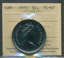 """1975 Canada $1.00 ICCS PL-67 """"Nickel"""" (AJ, FWL)"""