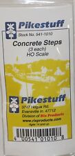 Pikestuff HO Scale Concrete Steps 3Pk NEW 541-1010