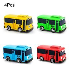 4 PCS Cartoon Mini TAYO Bus Taxi Zurück Kinder Lernspielzeug Kinder Geschenk