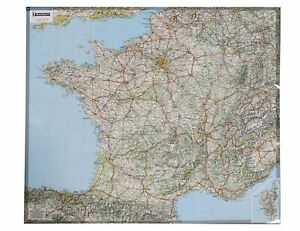 French Political & Road Map - Wall Map of France Laminated