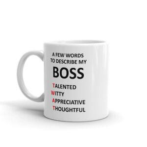 Bosses Mug Cup - Christmas Birthday Present Gift Funny