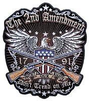 Medium Patriotic The 2nd Amendment, Don't Tread On Me American Eagle Biker Patch