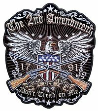 Medium Patriotic The 2nd Amendment Don't Tread on Me American Eagle Biker Patch